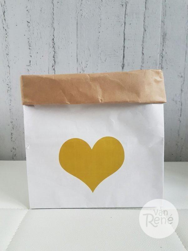 Van René Hart Small Goud Paper Bag