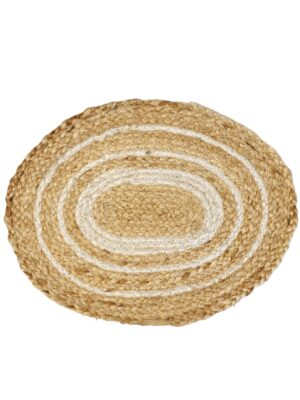 Jute Placemat Naturel-Ecru