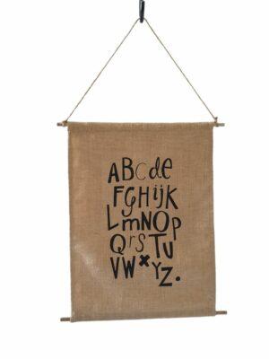 Jute Wandhanger Alfabet